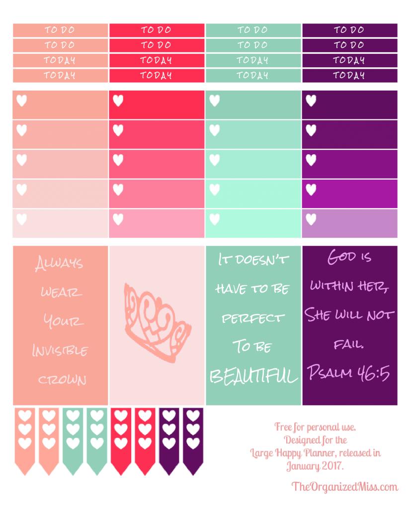 Crown Sticker Set – FreePrintable